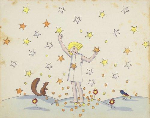 """""""הכוכבים אשר היו לדינרי זהב"""" (מטבעות הכוכבים) מתוך עשר אגדות לילדים, איירה תום זיידמן פרויד, 1923"""