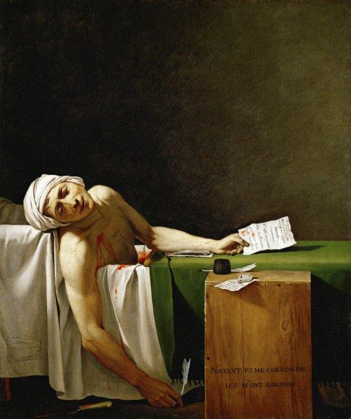 ז'אק לואי דויד, מות מארה