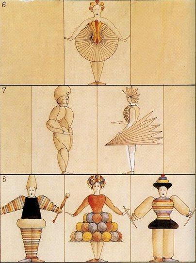 אוסקר שלמר, תלבושות לבלט הטריאדי