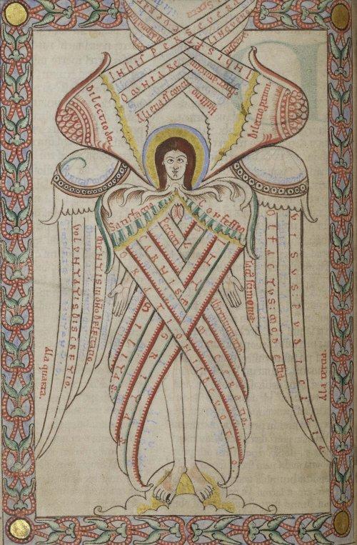שרף בעל שש כנפיים מתוך כתב יד מהמאה ה12