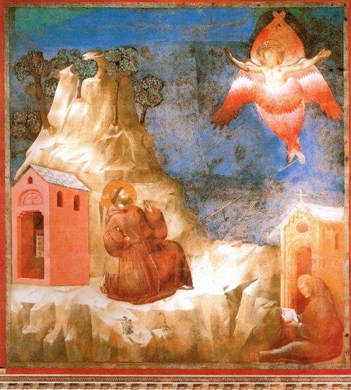 קשה לי לכתוב על מלאכים בלי לערב את ג'וטו. זה השרף שצופה בסטיגמטה של פרנציסקוס הקדוש