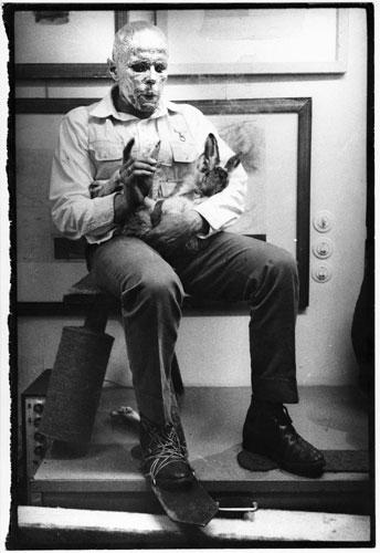 יוזף בויס, איך מסבירים תמונות לארנבת מתה, 1965