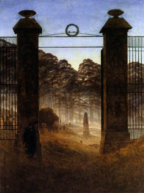 קספר דויד פרידריך, שער בית הקברות