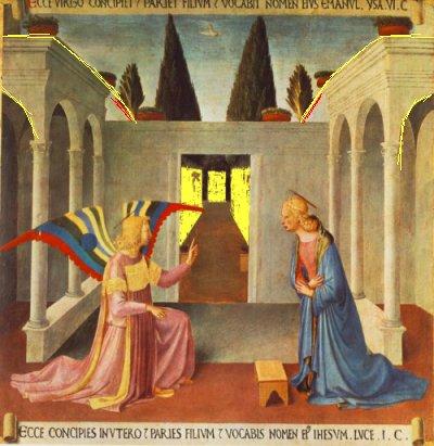 פרה אנג'ליקו 1452 (הסימון הצהוב שלי)