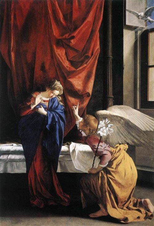 הבשורה למרים, אורציו ג'נטילסקי, 1563-1639