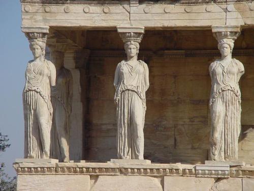 קריאטידות, אקרופוליס, אתונה