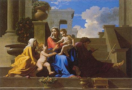 ניקולא פוסן, המשפחה הקדושה לרגלי המדרגות