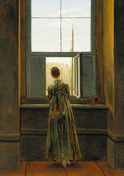 קספר דוד פרידריך, אישה בחלון