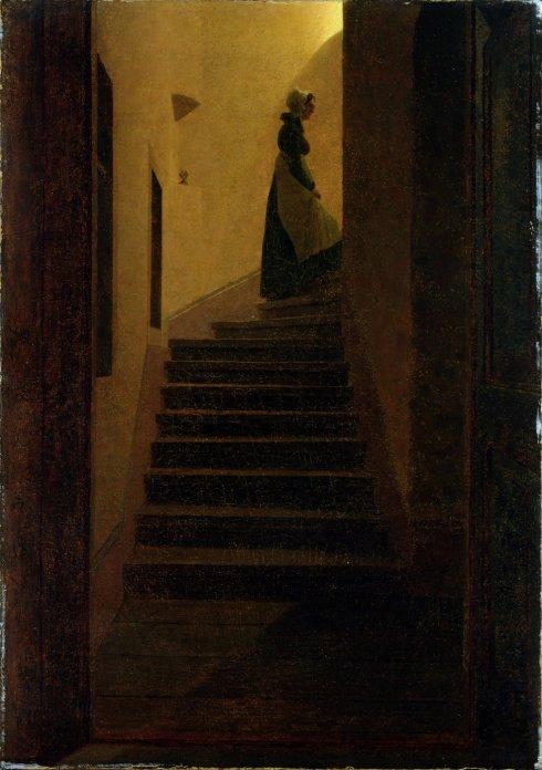 קספר דוד פרידריך, אישה במדרגות