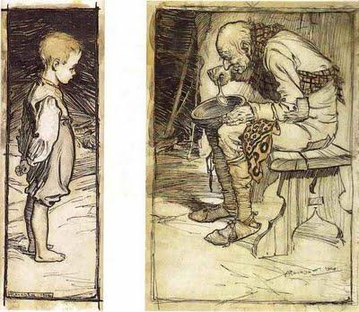 """""""קערת העץ"""", איור ארתור רקהאם"""