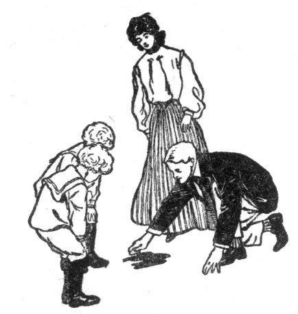 כתם הדם בספרייה. איור ואלאס גולסמית 1906