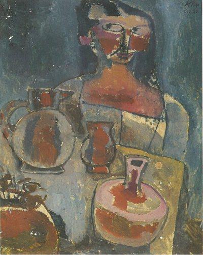 נערה עם כדים. פול קליי, 1910