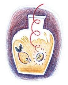 מסתבר שמלימון אפשר לעשות לא רק לימונדה אלא גם דג. אייר ירמי פינקוס, מתוך מר גוזמאי הבדאי מאת לאה גולדברג