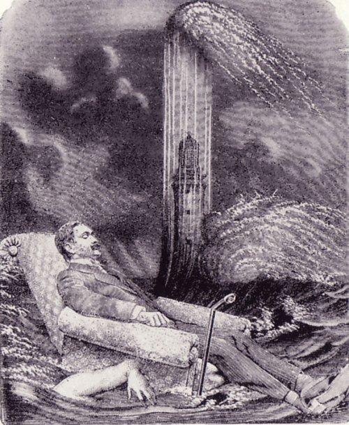 מקס ארנסט, שלווה, 1929. מתוך הרומן הקולאז'י La Femme 100 Tetes (אשת מאה הראשים?).