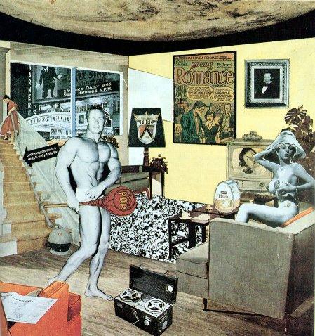 """ריצ'רד המילטון """"מהו הדבר שעושה את הבתים של ימינו כה שונים וכה מושכים בעצם"""" (1956)"""