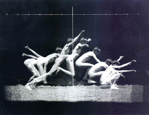 אדוארד מייברידג' מצלם שלבים של תנועה מהירה