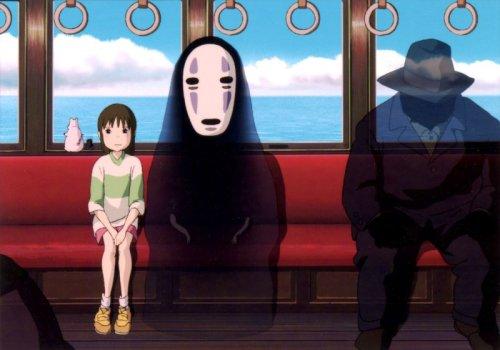 """הרוח """"בלי פנים"""" מתוך """"המסע המופלא"""", הייאו מיאזאקי 2001"""