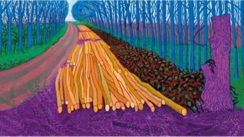דיוויד הוקני, 2008 (גם בלי העצים של דיוויד הוקני אי אפשר)