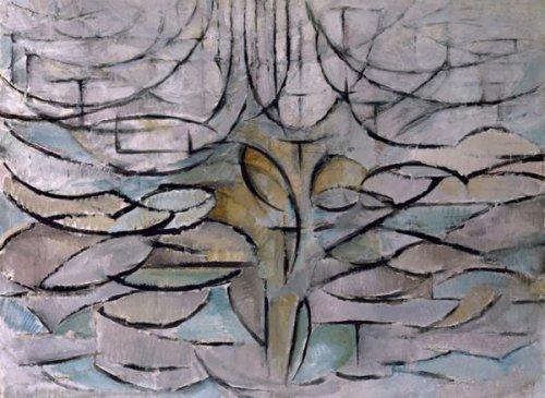 פיט מונדיאן, עץ התפוח הפורח, 1912 (אחד מסדרה אינסופית של עצים בכל דרגות ההפשטה והפיגורטיביות)