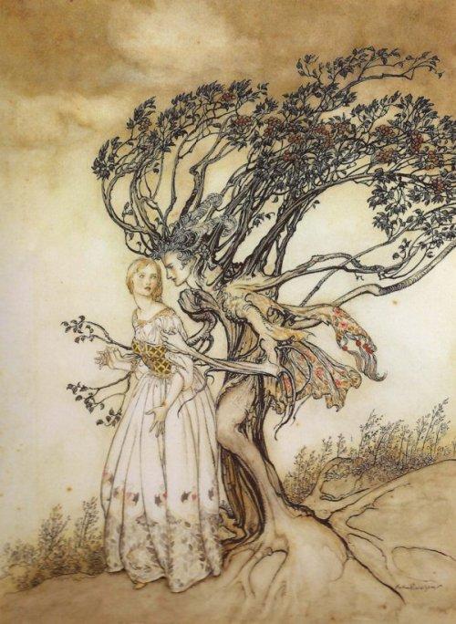 """ארתור רקהאם, 1917, מתוך """"הזקנה שביער"""" מאוסף האחים גרים"""