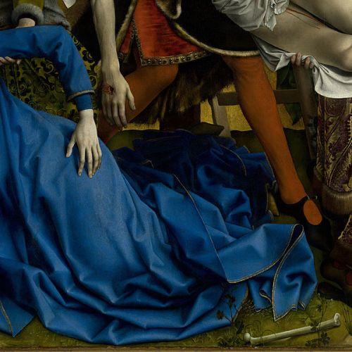 רוחיר ואן דר ויידן, ההורדה מהצלב, סביבות 1435 (פרט)