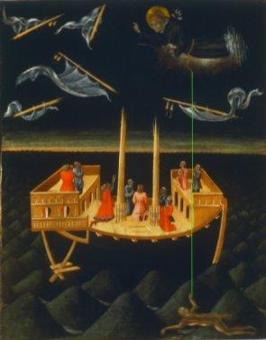 ג'יובאני די פאולו, ניקולאוס הקדוש מציל ספינה נטרפת, קו ישר מקצה החבל לאישה