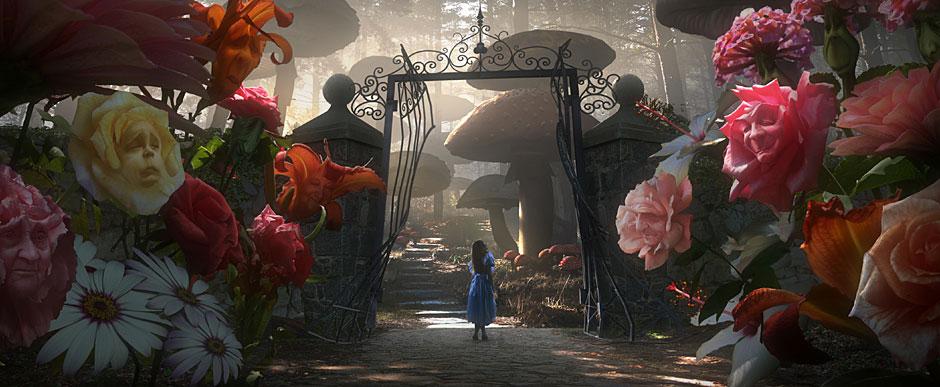 פרחי ענק, מתוך הגרסה של טים ברטון לאליס בארץ הפלאות