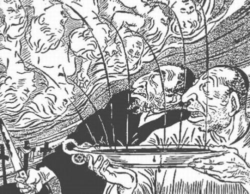 קריקטורה אנטישמית, דר שטירמר. הכי רחוק מפיות.