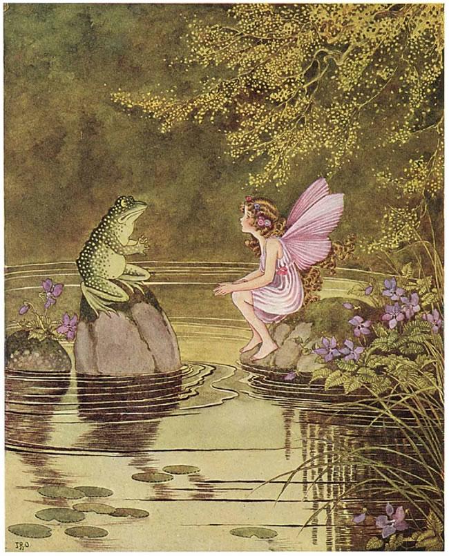 פיה ויקטוריאנית וצפרדע