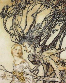 יואל אמר גם שאפשר להתחתן עם עץ. (איור, ארתור רקהאם, פרט)