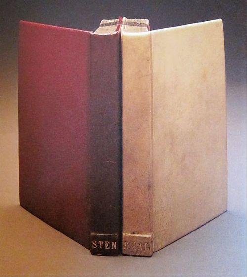 """כריכה של מרי ריינולדס ל""""האדום והלבן"""" (לוסיאן לוואן) רומן של סטנדל שיצא אחרי מותו."""