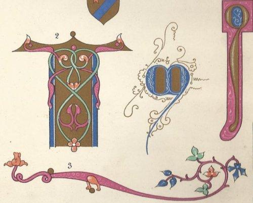 אותיות ועיטורים בכתבי יד מימי הביניים
