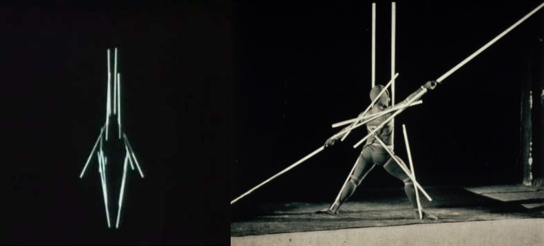 מתוך ריקוד המוטות של אוסקר שלמר, 1927