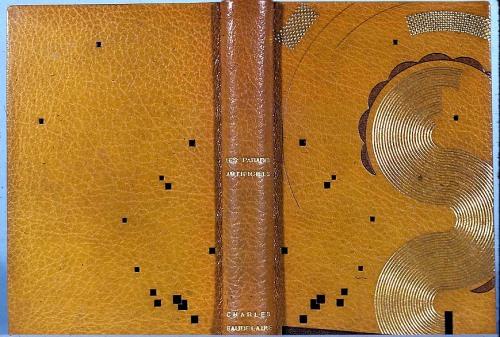 """אחת היפות בכריכות שעיצב פייר לגראן, כריכת ספרו של שארל בודלר """"גני העדן המלאכותיים""""."""