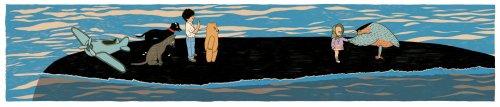 """מתוך """"המסע אל האי אולי"""" מרים ילן שטקליס, איירה בתיה קולטון (כדאי מאד ללחוץ להגדלה)"""