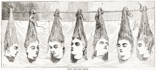 """""""כחול זקן"""", ככה זה נראה מצד הקהל, תחריט של וינסלו הומר 1868"""
