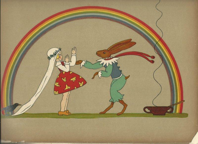 """תום זיידמן פרויד, איור ל""""כלת הארנב"""", מתוך """"מעשיות קטנות"""", גרמניה 1922"""