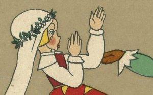 """תום זיידמן פרויד, איור ל""""כלת הארנב"""" (פרט), מתוך """"מעשיות קטנות"""", גרמניה 1922,"""