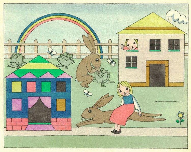 """כלת הארנב, הגרסה הרביעית שאיירה תום זיידמן פרויד, מתוך """"ספר סיפורי הארנבת"""""""
