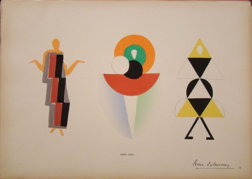 """סוניה דלוניי, """"בגדים סימולטניים"""", 1923-1924"""