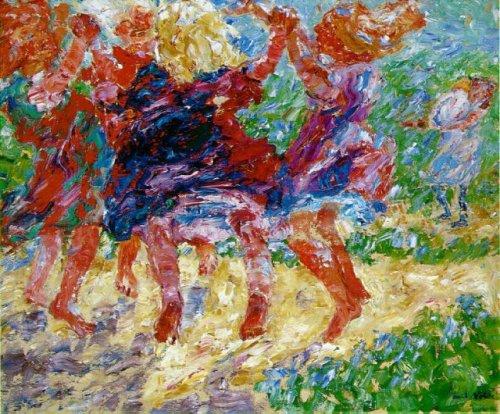 אקספרסיוניזם: אמיל נולדה, ריקוד פראי של ילדים, 1909