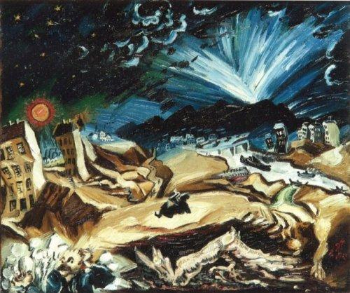 """אקספרסיוניזם: לודוויג מיידנר, 1913, מתוך סדרת """"נופים אפוקליפטיים"""""""