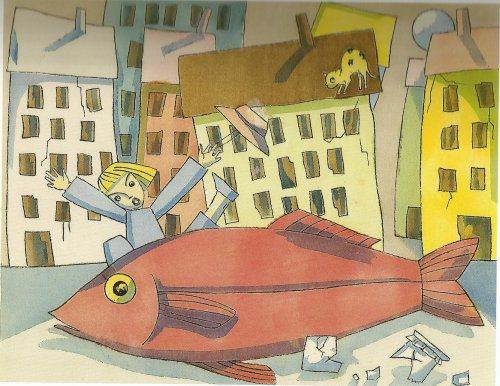 """מתוך """"מסע הדג"""", כתבה ואיירה תום זיידמן פרויד"""