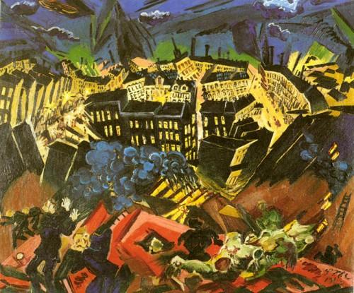 """לודוויג מיידנר, מתוך סדרת """"נופים אפוקליפטיים"""""""