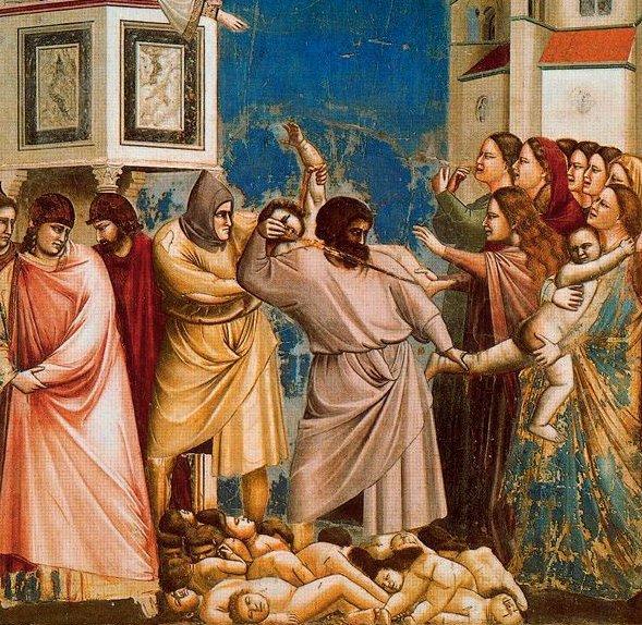 """ג'וטו, """"טבח החפים מפשע"""" (פרט), המאה ה-15"""