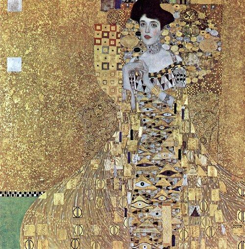 גוסטב קלימט (1907), אותה תקופה כמו הפרה רפאליטים. התלבושות של