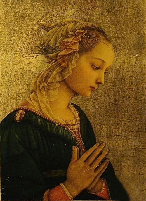 מדונה, פיליפו ליפי, המאה ה15. זה גורם לי לחשוב מחדש גם על הדוגמניות הילדות הניבטות מכל עבר.