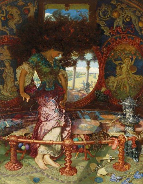 ויליאם הולמן האנט, הגבירה משאלוט, סביבות 1900 (שפע דוגמאות לשיער פרה-רפאליטי כאן==)