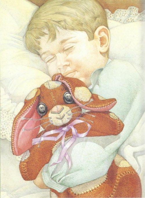 """איור, דון דיילי, מתוך """"ארנב הקטיפה"""" מאת מרג'רי ויליאמס"""