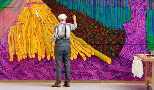 דוויד הוקני מצייר עצים (זה שייך גם לסיפור הבא)